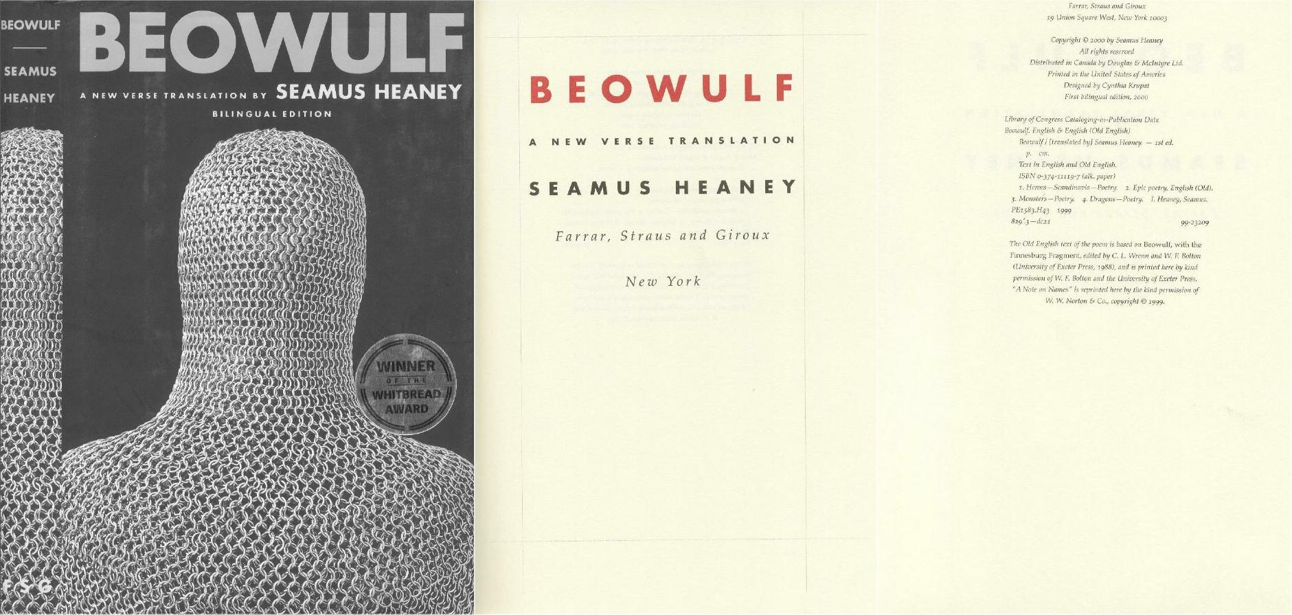 Beowulftranslationsnet A Note On The Seamus Heaney Translation