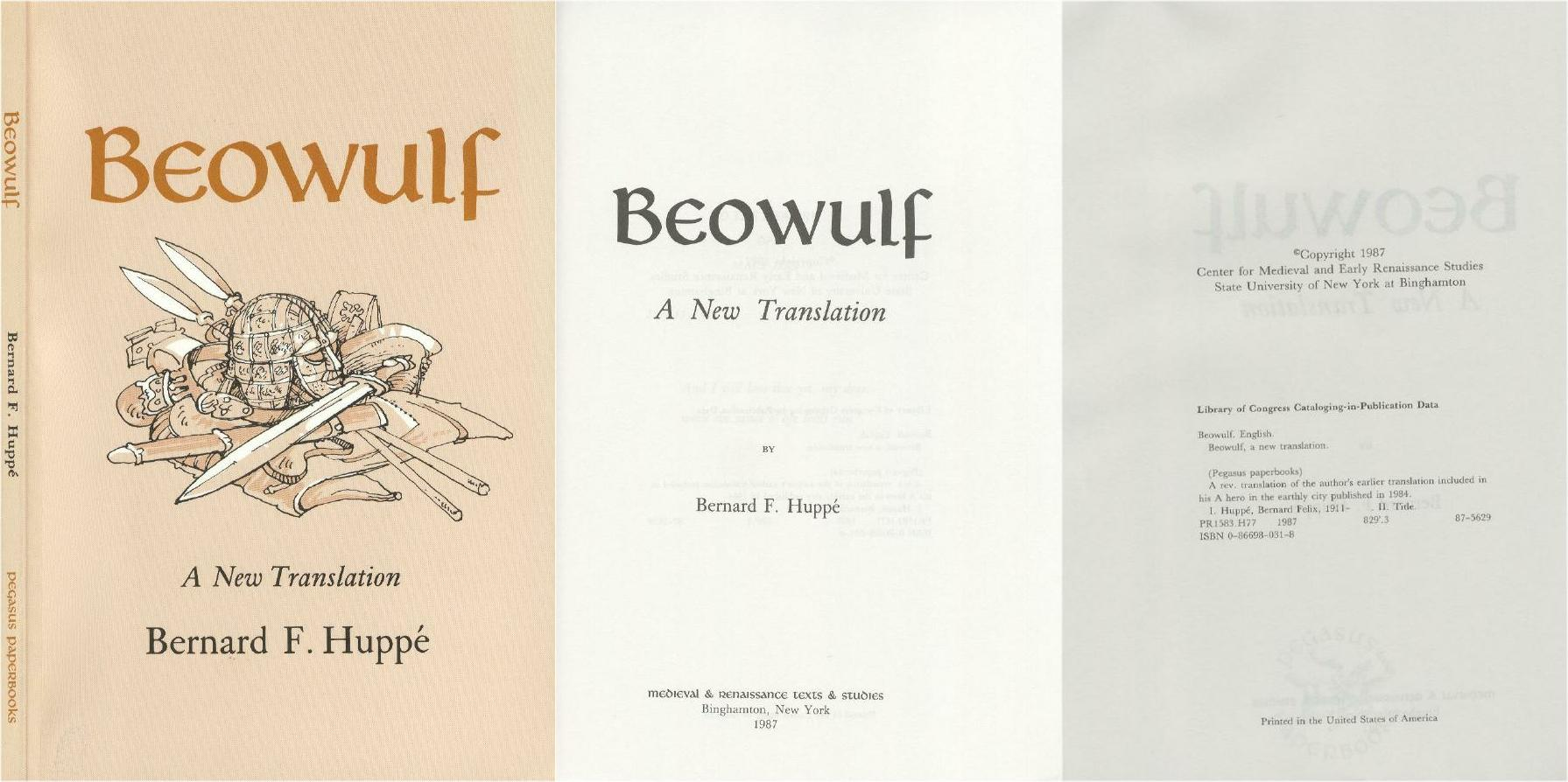 Beowulftranslations Net Translations By Bernard F Huppe border=